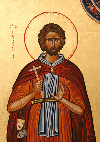 Proto-Icon St Genesius, patron of Actors, copyright The Fraternity of St. Genesius